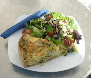 Homity Pie with Salad