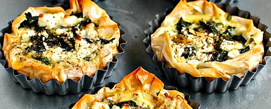 Courgette & Chard Tartlets
