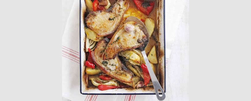 One-Pot Roast Pork Chops with Fennel & Potatoes
